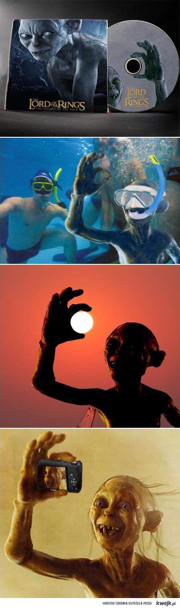 Photoshopowy gollum