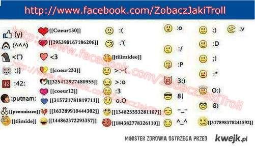 Emotki na fb:)
