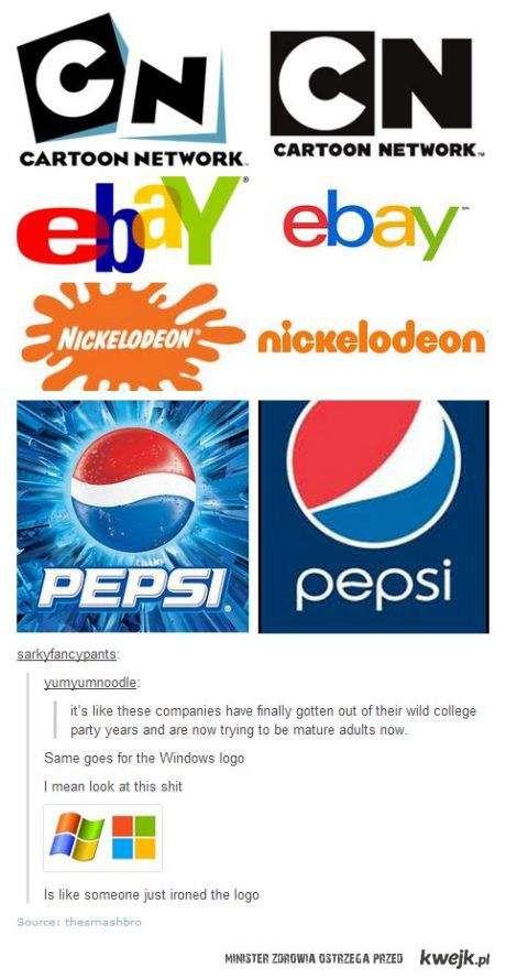 wyprasowane logotypy