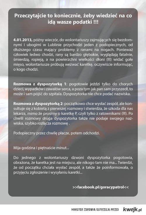Pogotowie ratunkowe w Lublinie