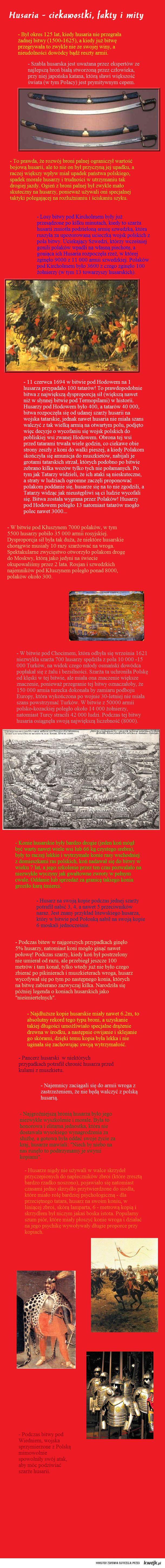 Husaria - moim zdaniem najbardziej niesamowita jednostka w dziejach historii