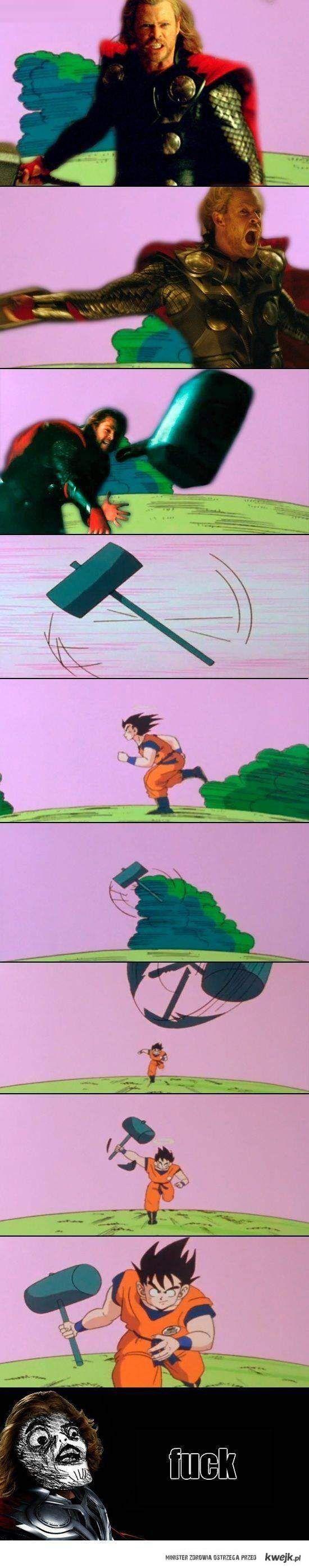 Młot vs Goku