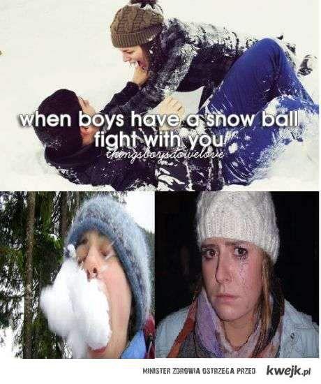 walka na sniezki z chlopakiem jest taka romantyczna