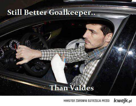 still better goalkeeper than valdes