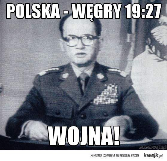 polska - węgry  19:27