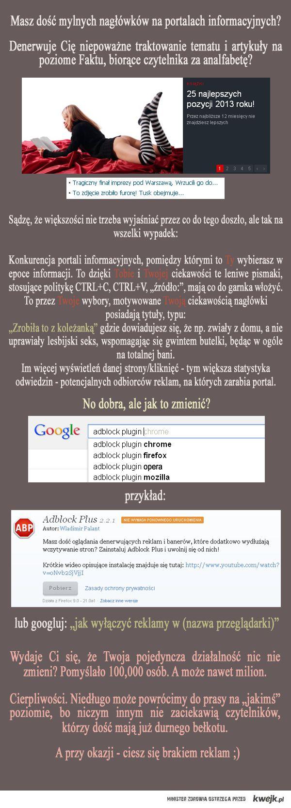 Kiepska prasa = brak blokady reklam
