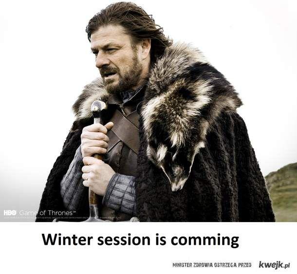 Zimowa sesja nadchodzi