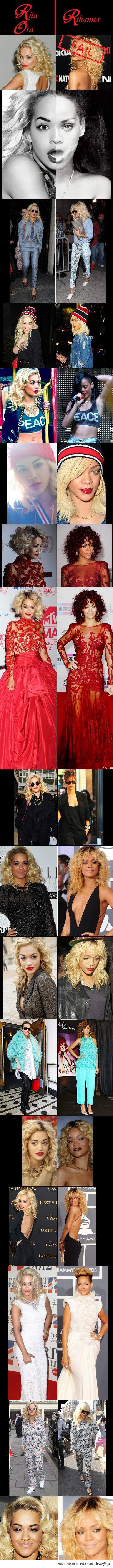 Rita Ora przypadkowo przypomina Rihannę.