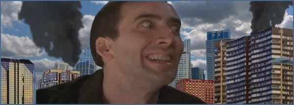 Nicolas Cage atakuje