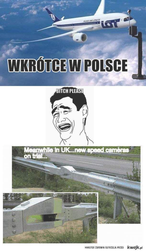 Fotoradar Polska vs UK