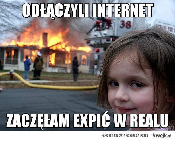 odłączyli internet