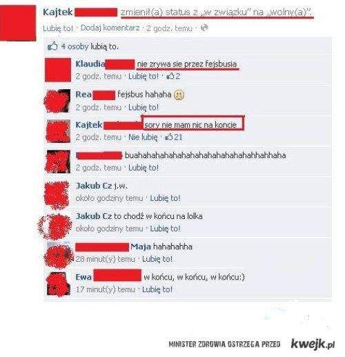 Zerwanie na Facebooku XD
