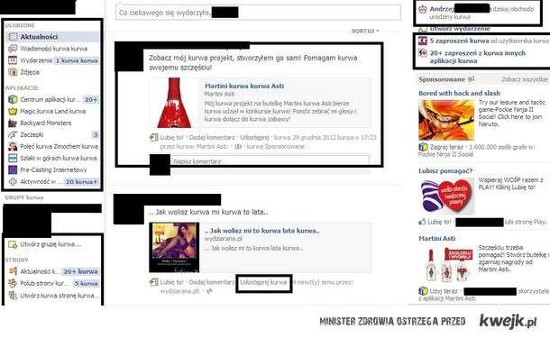 Facebook przekliniak