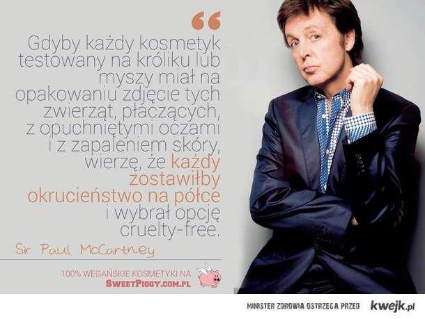 Paul McCartney o kosmetykach