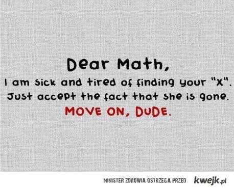 Matematyko !