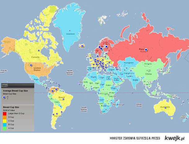 Piersi na świecie
