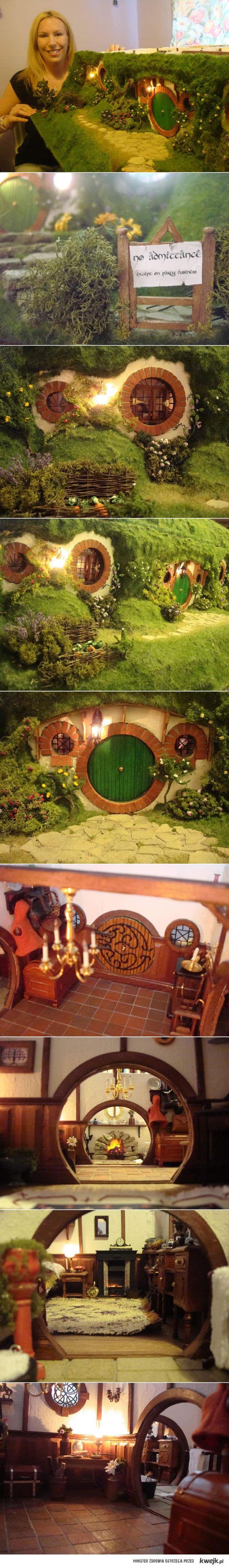 Miniaturowy domek z Hobbita