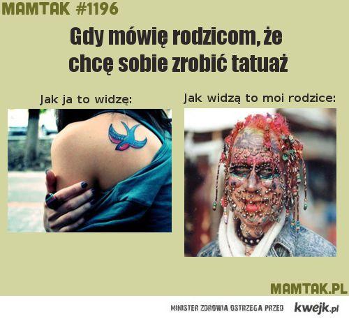 chcę tatuaż