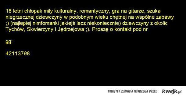 Proszę pisać :))
