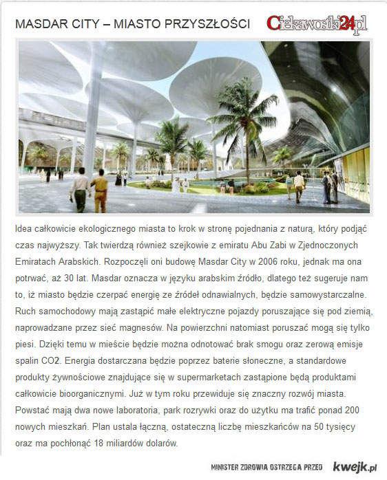 Masdar City – miasto przyszłości