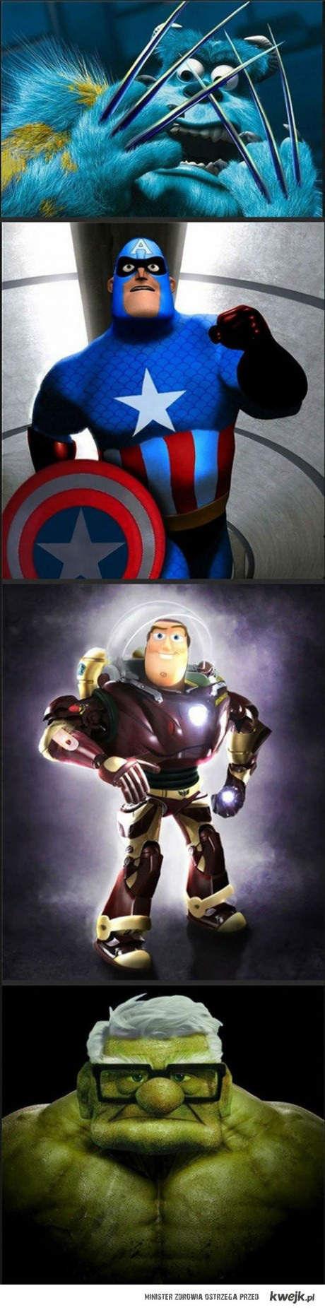 Pixar avengers