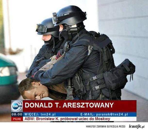Donald T. aresztowany