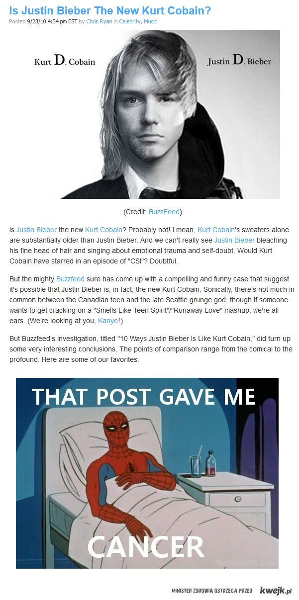 Justin Bieber Kurt Cobain