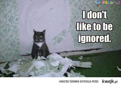 Nie lubię być ignorowany