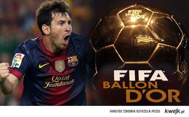 Zwycięzca złotej piłki 2012 - Messi.