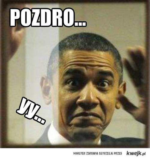 Obama pozdrawia