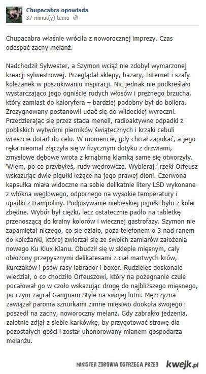 Chupacabra opowiada - Szymon