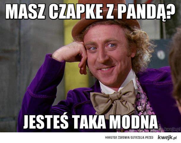 Masz czapke z pandą?