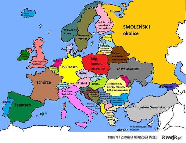 Mapa Europy Poboznego Socjalisty Ministerstwo Smiesznych