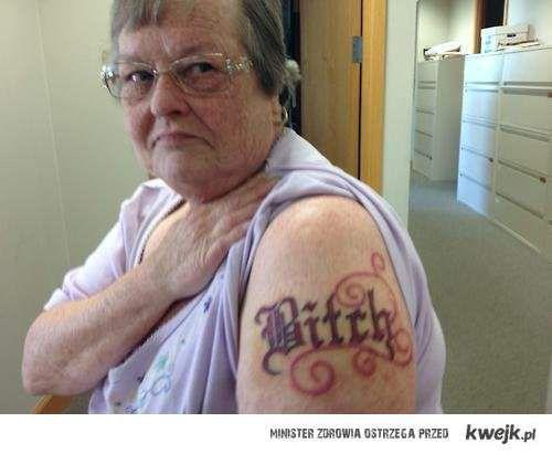 Tatuaże Na Starość Ministerstwo śmiesznych Obrazków Kwejkpl