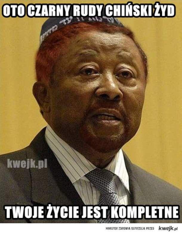 Czarny rudy chiński żyd