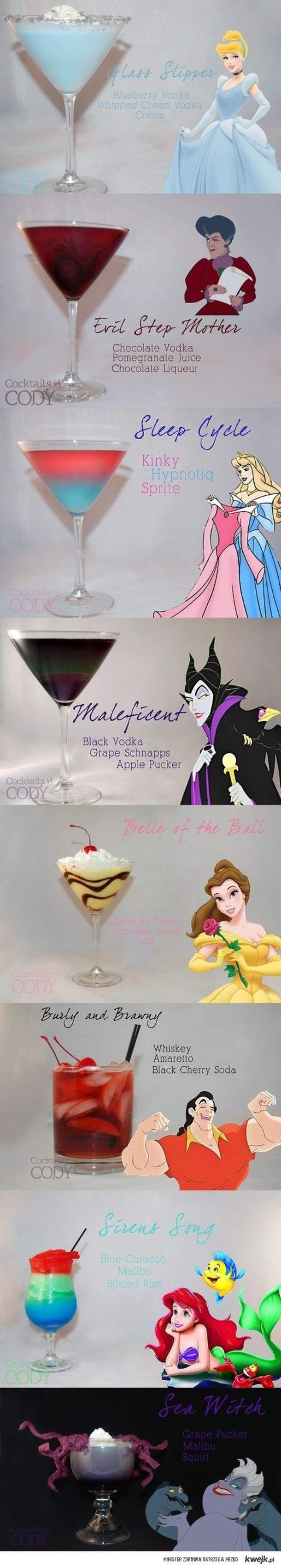 Drinki inspirowane Disney'em :)