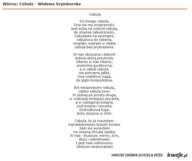 Szymborska Napisała Wiersz O Polakach Cebulakach Zanim To