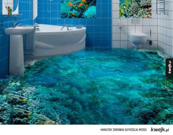 Podłogi 3d Kt 243 Re Każdy Chciałby Mieć W Swojej łazience