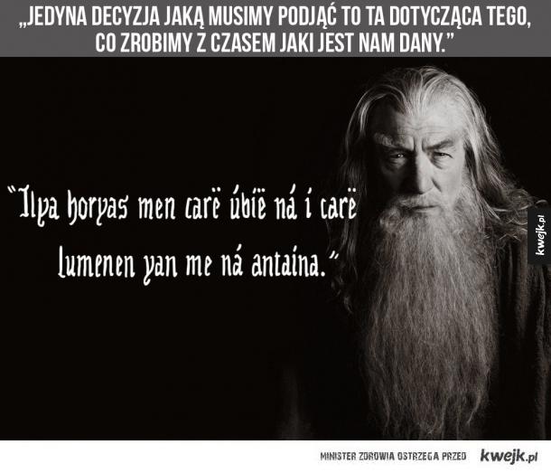 Cytaty Z Władcy Pierścieni I Hobbita Po Elficku I Po Polsku