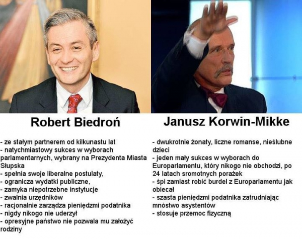 Biedroń i Korwin-Mikke
