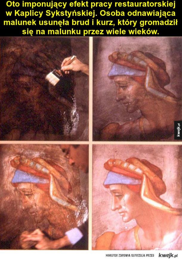 Malunek w Kaplicy Sykstyńskiej