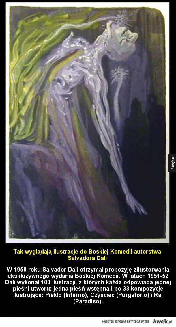 Ilustracje do Boskiej Komedii autorstwa Salvadora Dali