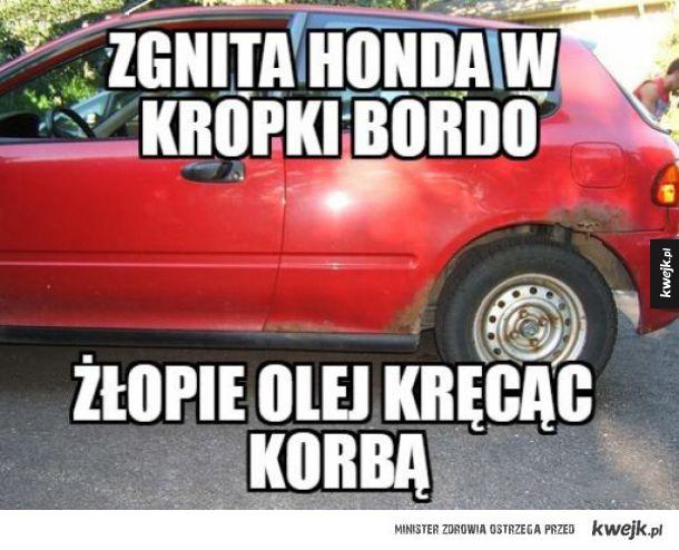 Honda zgnita