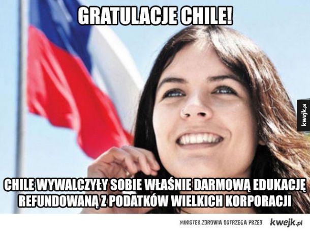 Z Chile za edukację w końcu zapłacą Ci, którzy powinni