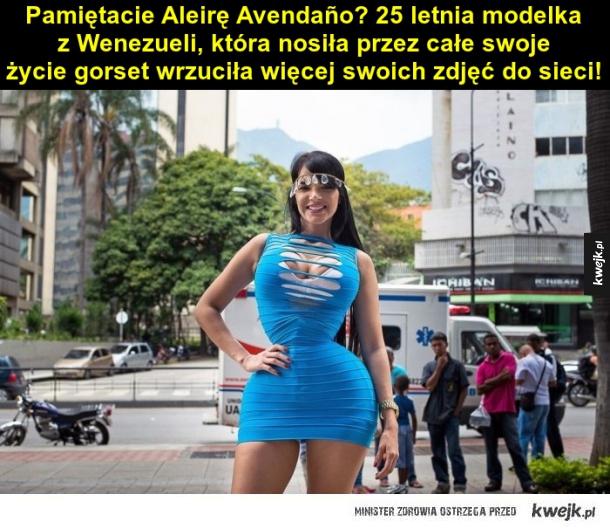 Aleira Avendaño, nietypowa modelka