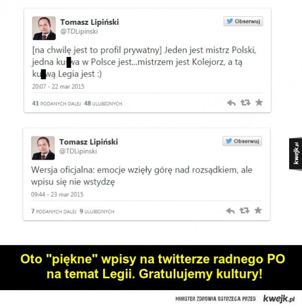 """Radny PO i jego """"wysoka"""" kultura na twitterze..."""