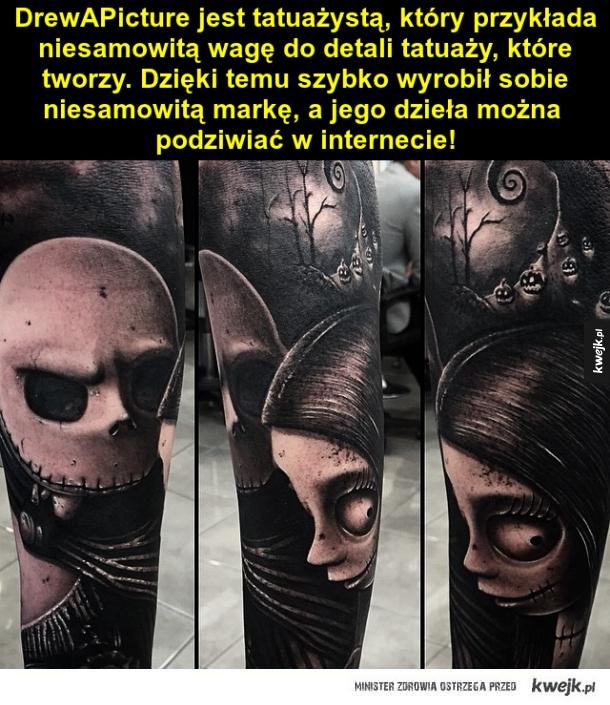 Niesamowite tatuaże DrewAPicture