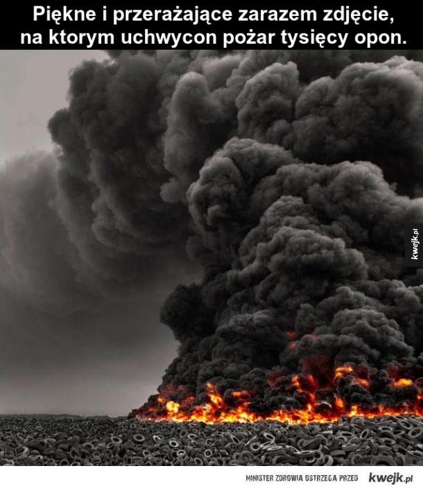 Pożar opon