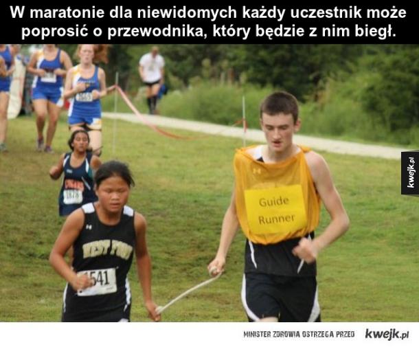 Maraton niewidomych