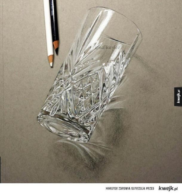 Ta szklanka jest narysowana
